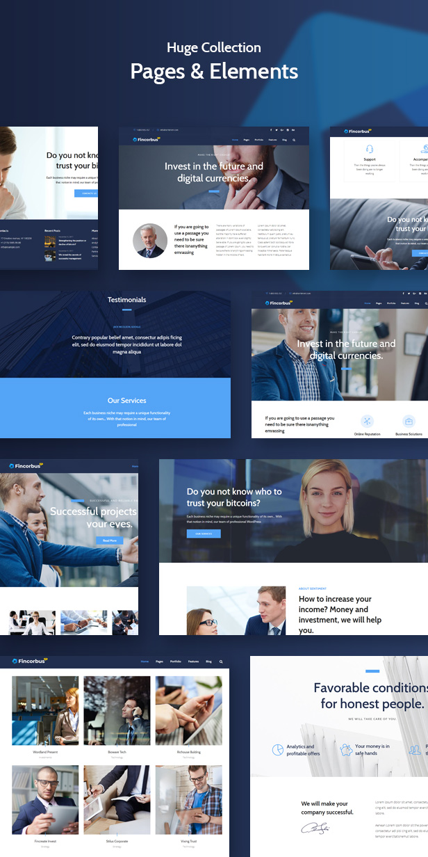 Themforest follow fincorbus - finance corporate wordpress theme (business) Fincorbus – Finance Corporate WordPress Theme (Business) pages